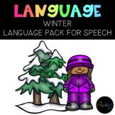 PRESCHOOL: Speech Therapy Winter Language Pack