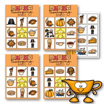 THE PRESCHOOL SLP: Thanksgiving Vocabulary BINGO