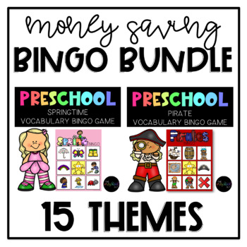 THE PRESCHOOL SLP: Theme BINGO for the year! Seasons, Holidays, & More!