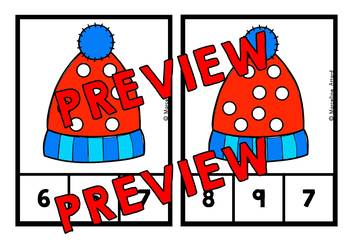 PRESCHOOL WINTER COUNTING CENTERS 1-10 (WINTER KINDERGARTEN COUNTING ACTIVITIES
