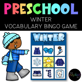 PRESCHOOL: Winter Vocabulary Bingo