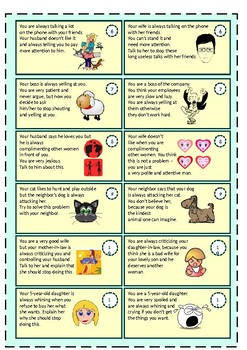Role plays - PRESENT CONTINUOUS TENSE (annoying habits)