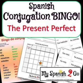 PRESENT PERFECT:  Bingo Game for Conjugating