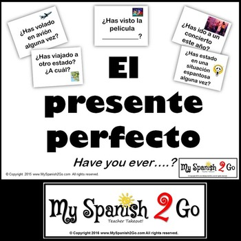 PRESENT PERFECT Fun and Personal Spanish Powerpoint and Co
