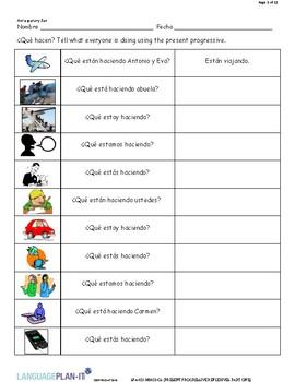 PRESENT PROGRESSIVE REFLEXIVES, PART ONE (SPANISH)