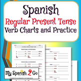 PRESENT TENSE:  Spanish Regular Verb Charts-Guided Notes or Review