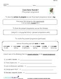PRESENT PROGRESSIVE, SHOPPING VERBS (ITALIAN)