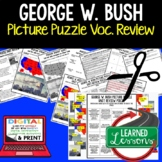 PRESIDENT GEORGE W. BUSH Activity Picture Puzzle, Study Guide, Test Prep