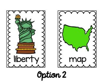 PRESIDENT'S DAY American Symbols Write the Room