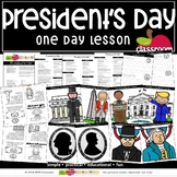 PRESIDENT'S DAY Preschool PreK Kindergarten 1-One Day Lesson Plan