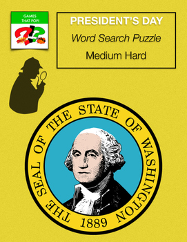 PRESIDENT'S DAY Word Search Puzzle - Presidents Day - Geor