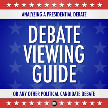 PRESIDENTIAL DEBATE VIEWING FORM (or any political candidate debate)