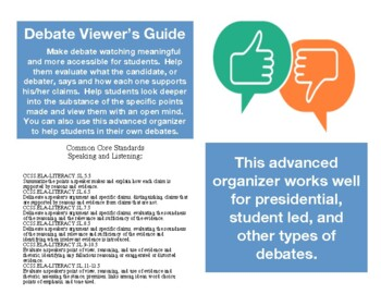 PRESIDENTIAL DEBATE VIEWING GUIDE STUDENT FRIENDLY