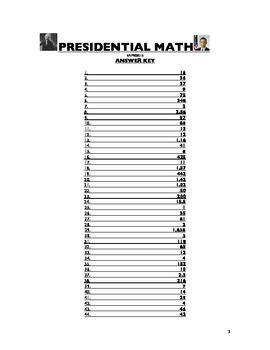 PRESIDENTIAL MATH