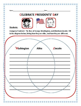 PRESIDENTS' DAY: COMPARE/CONTRAST: DIAGRAM ACTIVITY