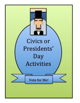 CIVICS/GOVERNMENT ACTIVITIES: Grades 3-8