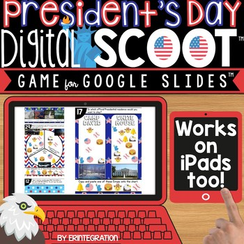 PRESIDENTS DAY AMERICAN SYMBOLS GOOGLE SLIDES DIGITAL SCOOT