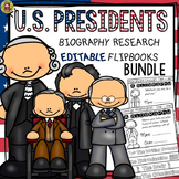 AMERICAN PRESIDENTS RESEARCH: BIOGRAPHY: EDITABLE FLIPBOOKS