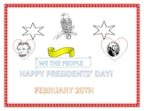 PRESIDENTS' DAY COLORING PAGE/ SIGN
