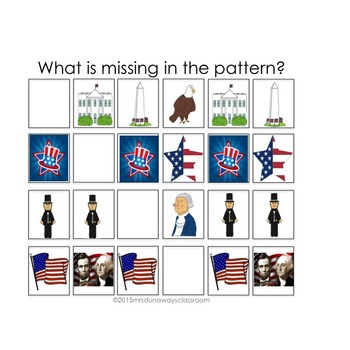 PRESIDENTS DAY Patterns