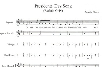 PRESIDENTS' DAY Song, Orff, Character Ed Kits - Integrity & Perseverance BUNDLE