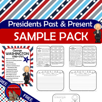 FREE PRESIDENTS PAST & PRESENT Sample Pack {George Washington} President's Day
