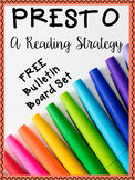 PRESTO Reading Strategy Bulletin Board Set ~FREEBIE~