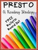 PRESTO Reading Strategy Bulletin Board Set ~FREEBIE~