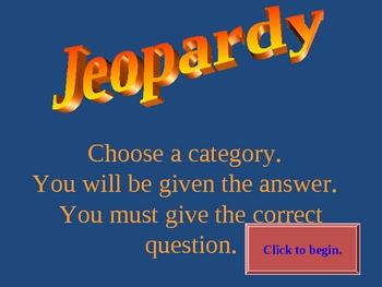 PRETERITE / DEMONSTRATIVES / CLOTHING JEOPARDY