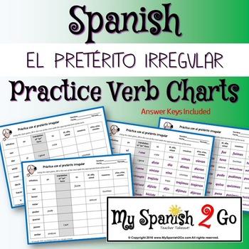 Irregular Preterite Worksheet Teaching Resources Teachers Pay Teachers