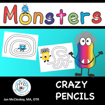 FINE MOTOR Crazy Pencils - monster theme