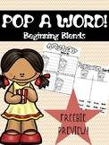 PREVIEW FREEBIE-POP A WORD! A Beginning Consonant Blends Game