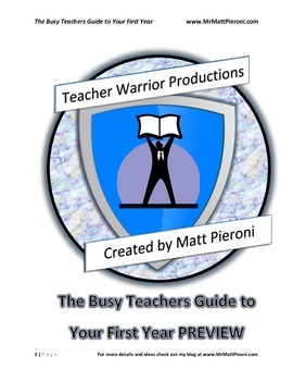 PREVIEW TO The Busy Teachers Guide to Your First Year