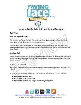 PREVIEW VERSION Social Media Module 4: Social Media Manners