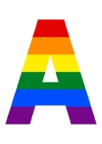 PRIDE MONTH LGBTQ+ CLASSROOM WALL DISPLAY. RAINBOW. A-Z, FLAGS AND SIGNS