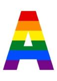 PRIDE MONTH LGBTQ+ CLASSROOM WALL DISPLAY. RAINBOW. A-Z, F