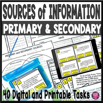 Primary and Secondary Sources Lessons and Activities Tn Ready Aligned
