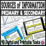 Primary and Secondary Sources Lesson and Tasks