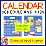 PRIMARY COLORS Schedules - Helpers - Jobs CARDS EDITABLE