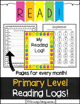 PRIMARY LEVEL Reading Logs!