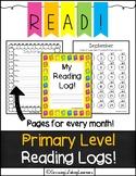 PRIMARY LEVEL Reading Logs!