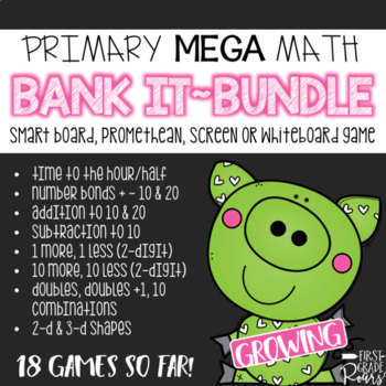 PRIMARY MATH MEGA BUNDLE~Bank It Projectable Games