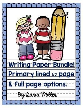 PRIMARY WRITING PAPER BUNDLE!