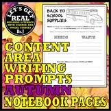 PRIMARY WRITING PROJECTS FOR AUTUMN