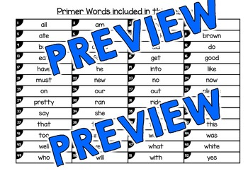 PRIMER SIGHT WORDS ACTIVITY: EMOJI THEME CRACK THE CODE ACTIVITY