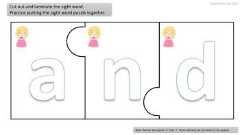 PRINCESSES Pre-Primer Sight word READING UNIT 1