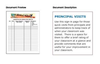 PRINCIPAL VISITS Sign-In Form