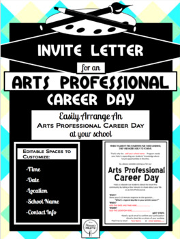 EDITABLE ARTS PROFESSIONAL CAREER DAY INVITE LETTER