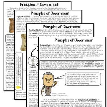 PRINCIPLES OF GOVERNMENT Reading and Cartoon Notes