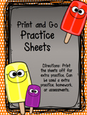 PRINT AND GO ABC worksheets
